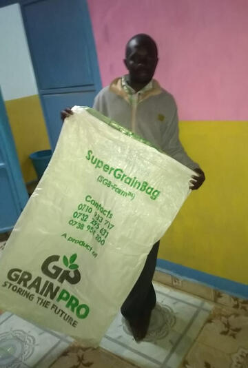 GrainPro Hermetic Bag Storage Swaleh Kenya Farmer