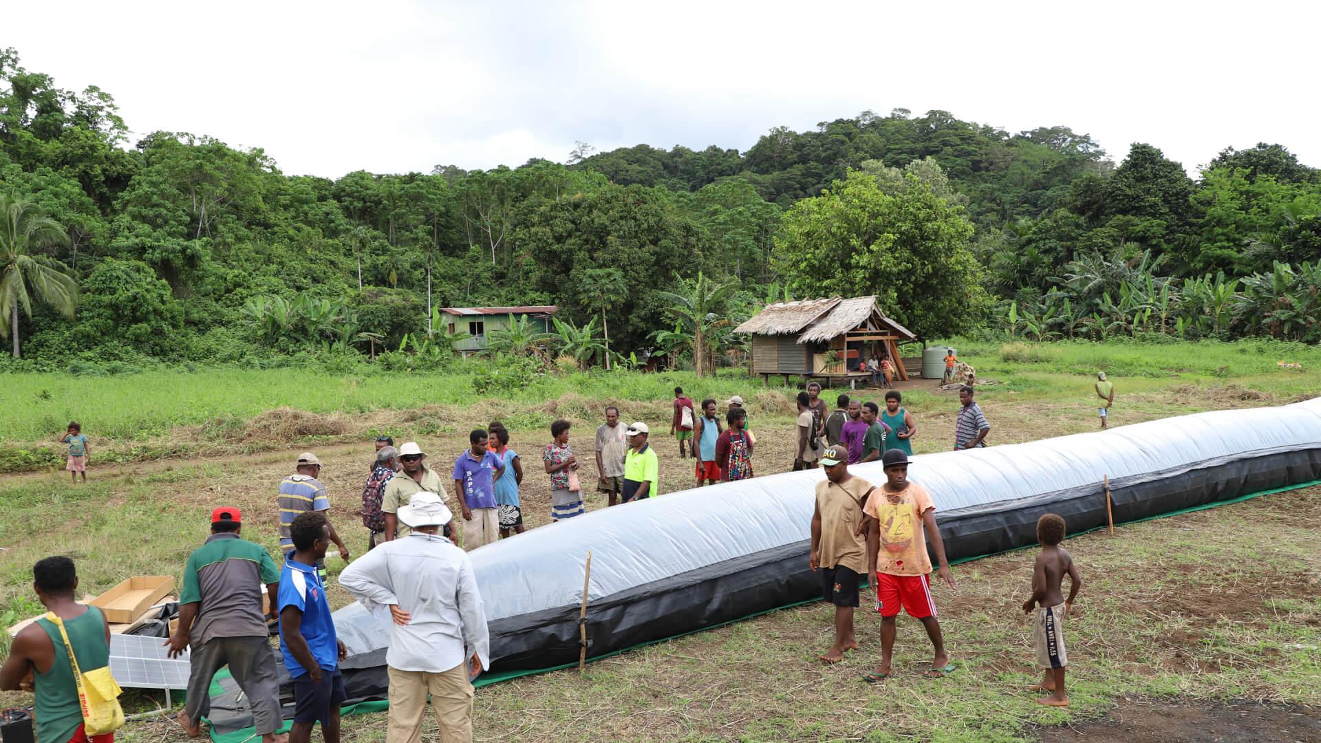 solar bubble dryer -  solomon island